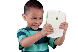 Child using LeapPad camera