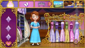 Dress-up mini-game