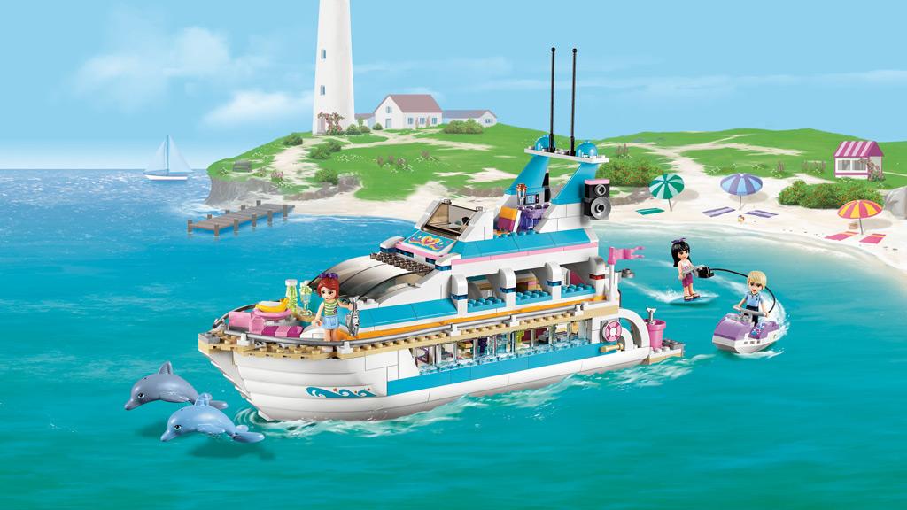 LEGO Friends 41015 Dolphin Cruiser Amazonuk Toys Amp Games