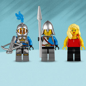 Includes three minifigures