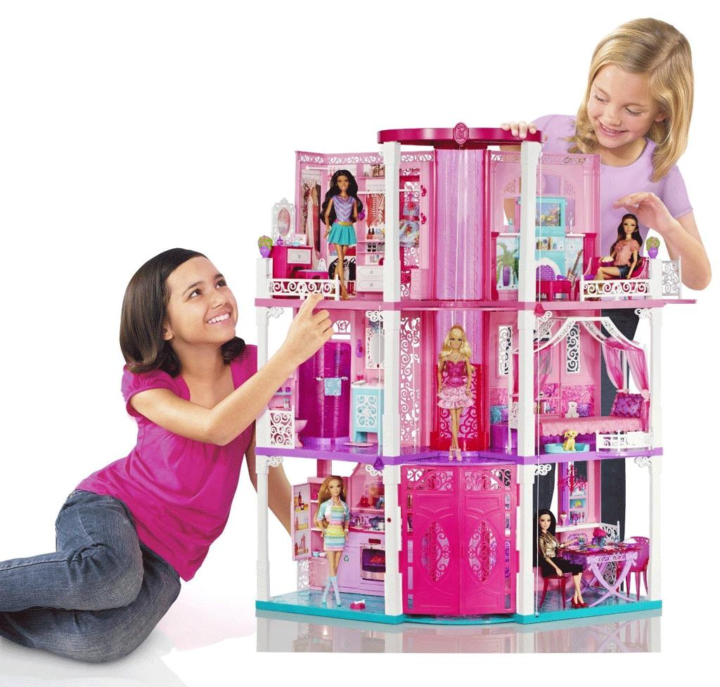 Mattel barbie dream house toys games for Barbie dream house bedroom