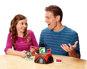 Family playing UNO Blast