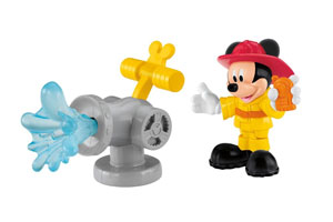 Mickey and fire hydrant