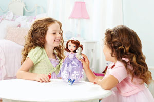 Girls playing with Talking Sofia Doll and Animals