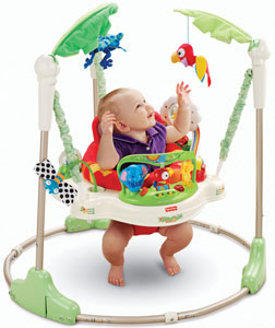 Baby using the Rainforest Jumperoo