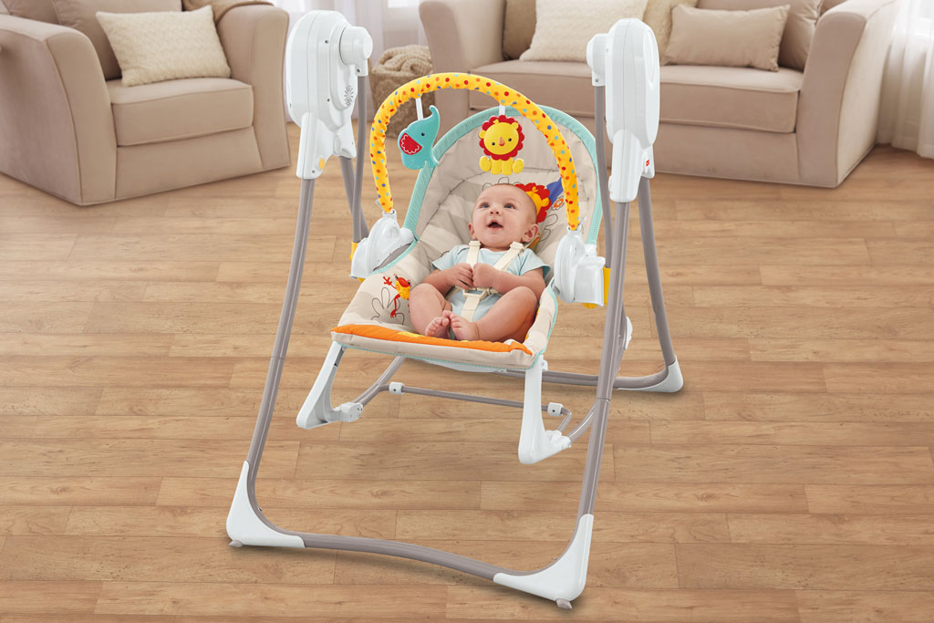 New Fisher Price 3 in 1 Swing n Rocker Portable Baby
