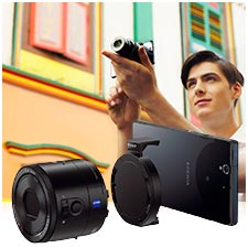 QX100 connected to smart phone