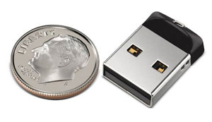 Tiny flash drive