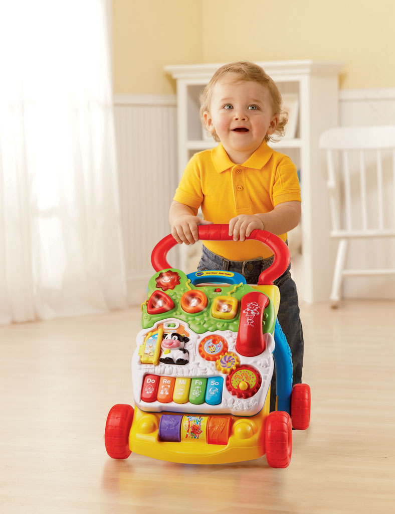 Vtech Baby First Steps Baby Walker Pink Amazon Co Uk Baby