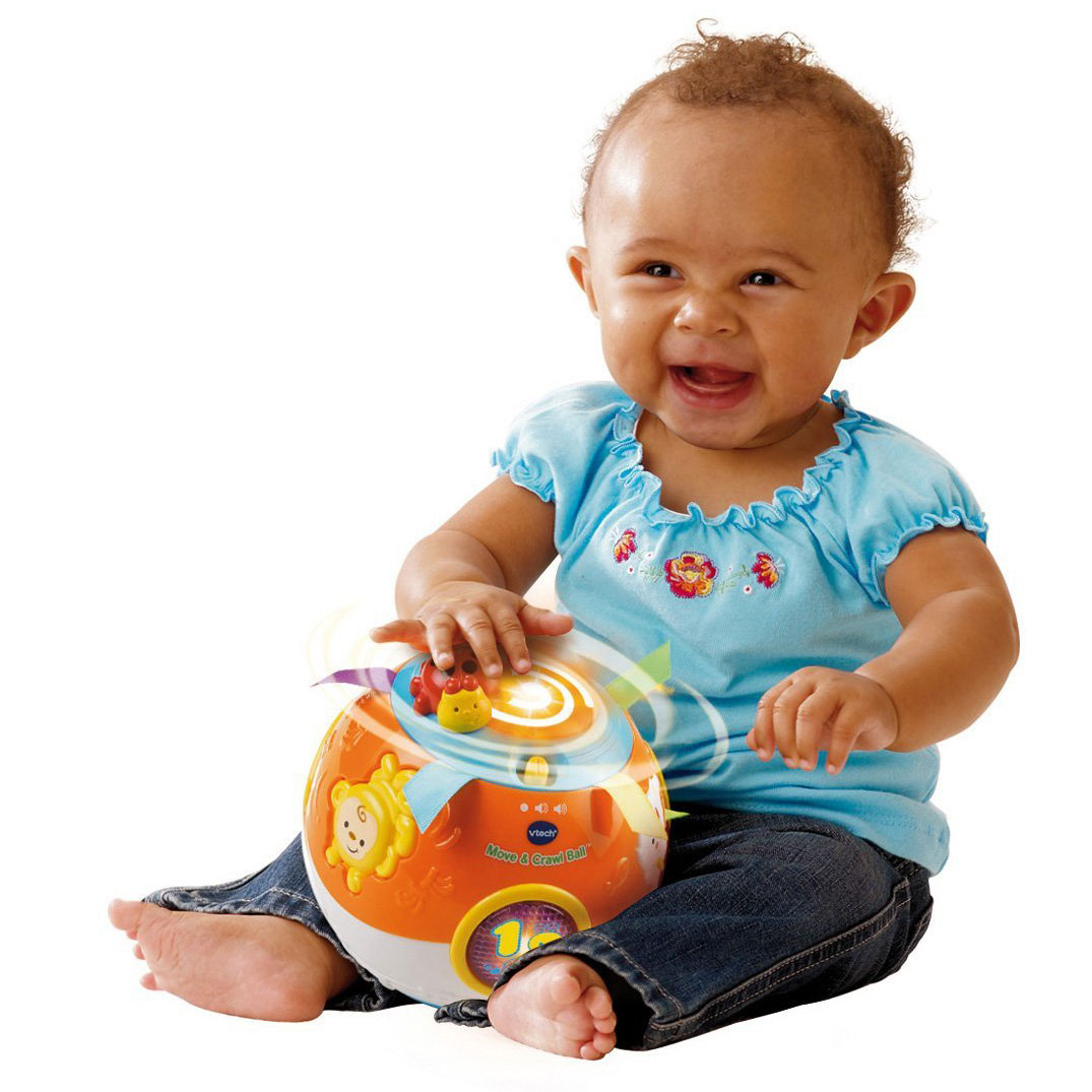 Vtech Baby Crawl And Learn Lights Ball White And Pink