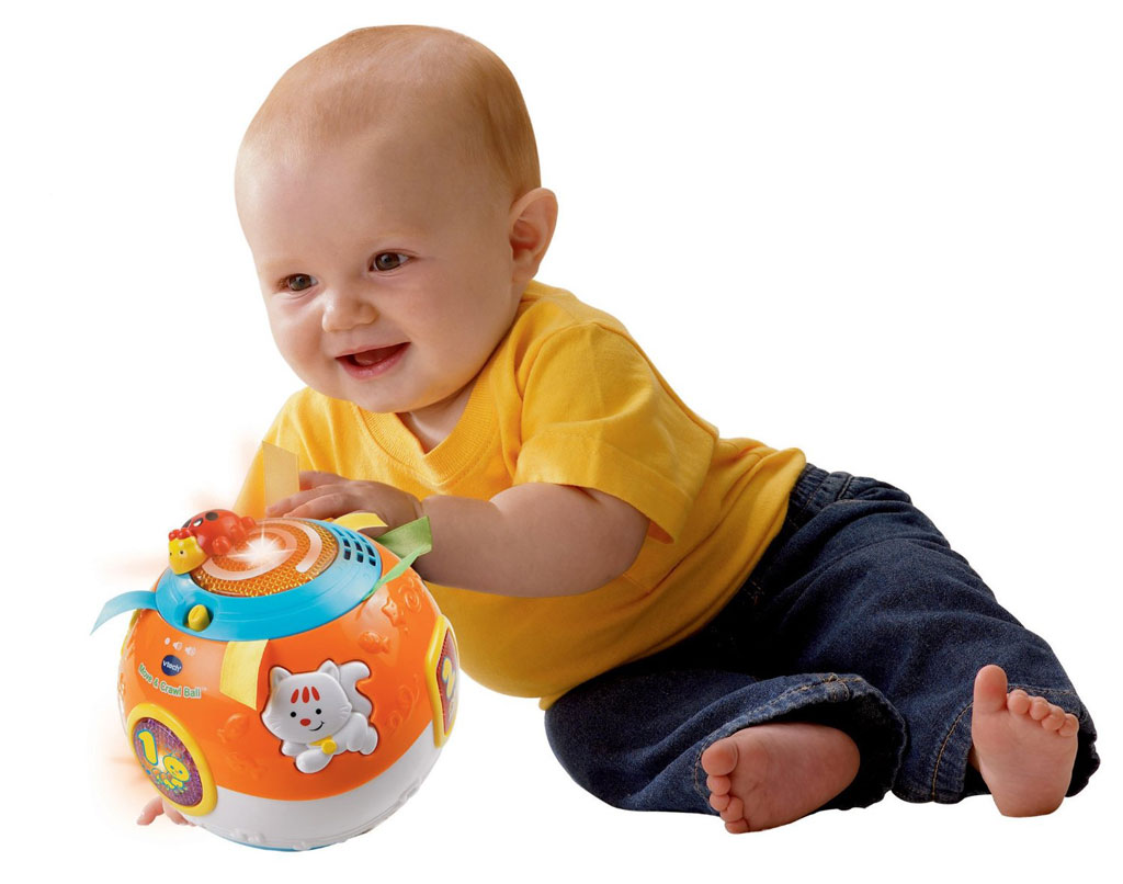 18 Month Old Toys For A Ball : Vtech baby crawl and learn lights ball white pink