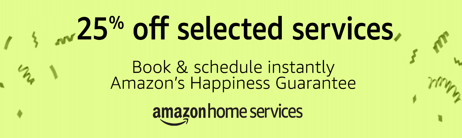 Amazon Home Services Prime Day 2018 offer - 25% off selected services