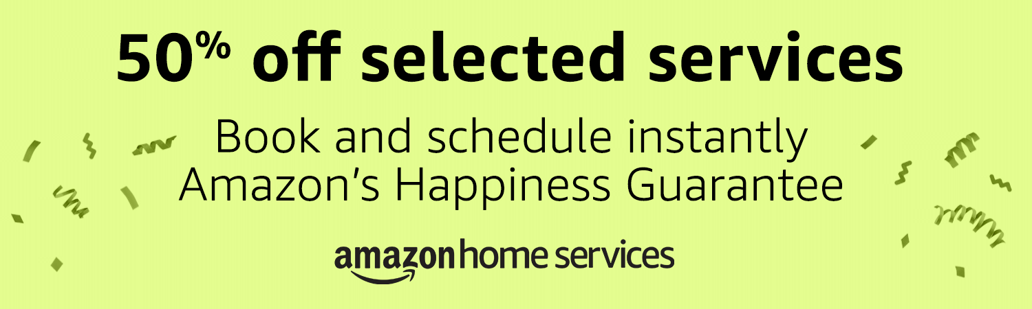 Amazon Home Services Prime Day 2018 offer - 50% off selected services