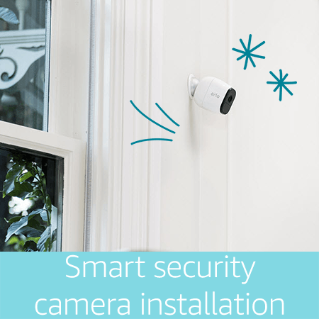 Smart home security camera installation