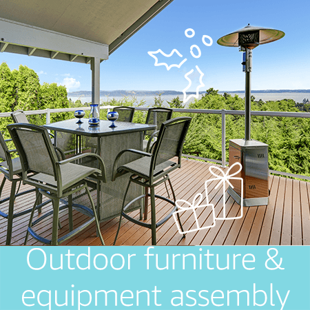 Outdoor furniture and equipment assembly