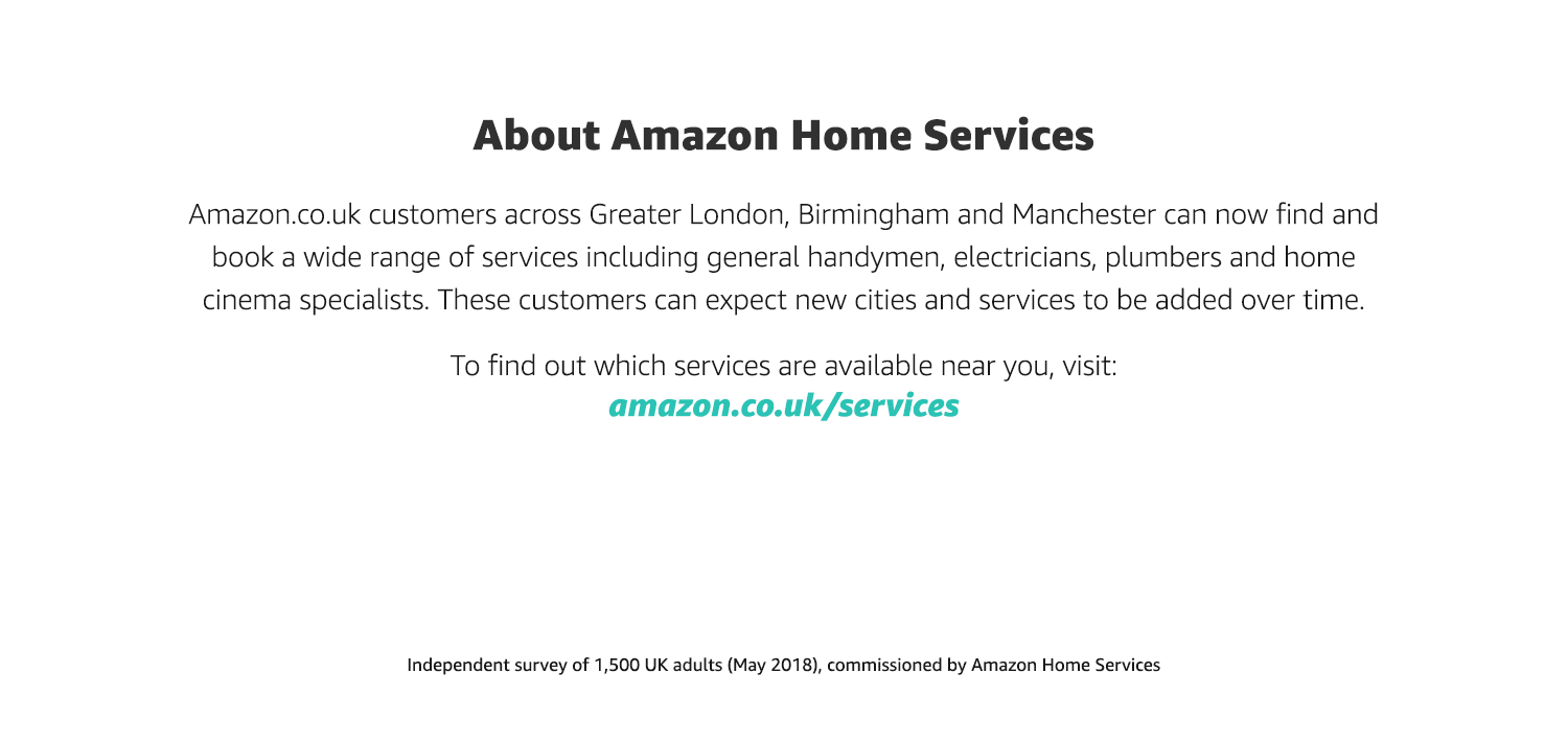 About Amazon Home Services UK