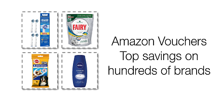 Top Savings on Hundreds of Brands with Amazon Vouchers