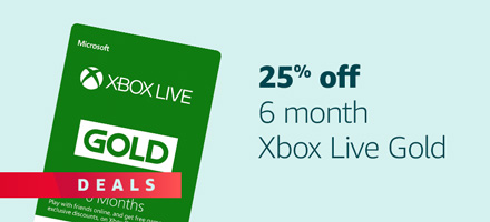 25% off Xbox Live 6 Months