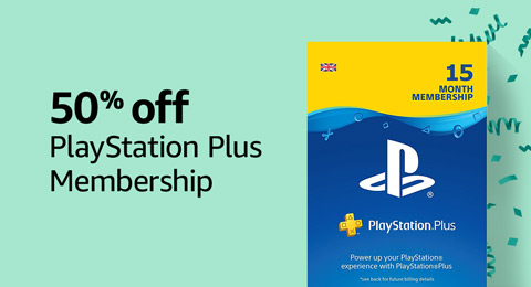 50% off PlayStation Plus Membership