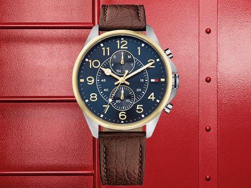 Tommy Hilfiger Herrenuhren Armbanduhren Leder