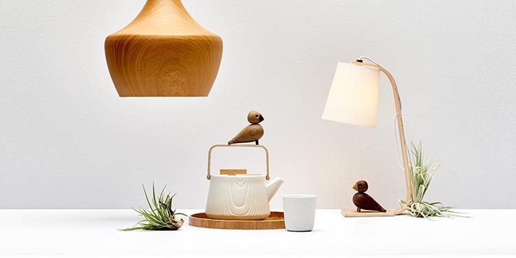 Natürliche Leuchten mit Holz & Co.