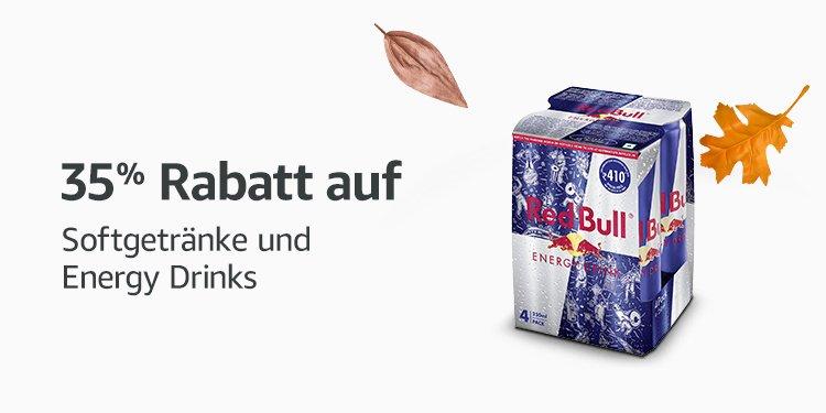 35% Rabatt auf Softgetränke und Energy Drinks