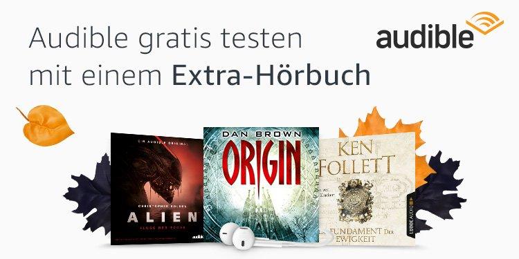 Audible gratis testen mit einem Extra-Hörbuch