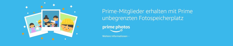 Prime-Mitglieder erhalten mit Prime unbegrenzten Fotospeicherplatz.