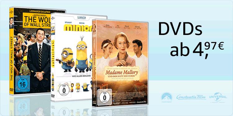 DVDs ab 4.97 EUR