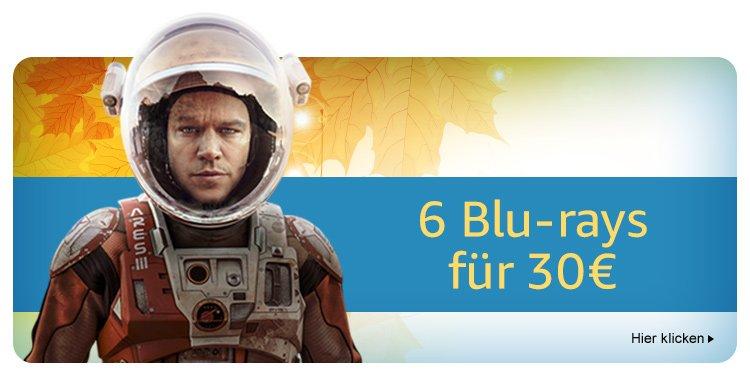 6 Blu-rays für 30 EUR