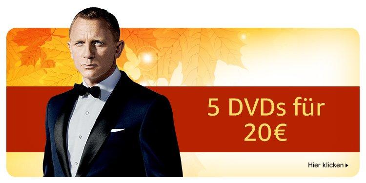 5 DVDs für 20 EUR