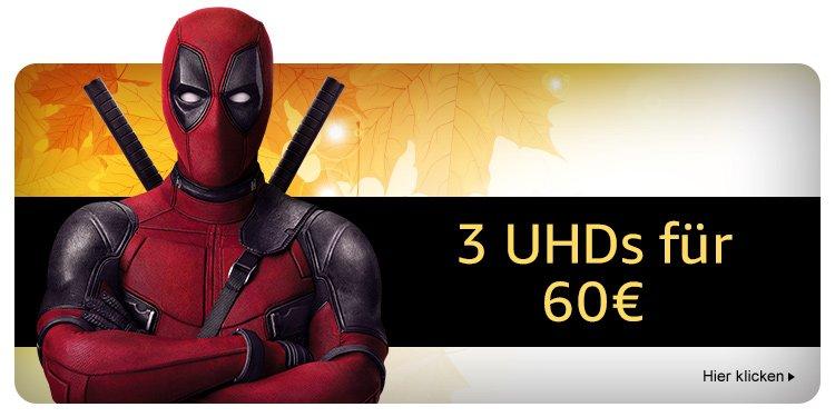 3 4K Ultra-HDs für 60 EUR
