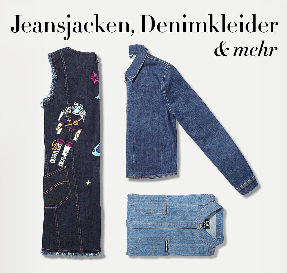 Denim Jacken, Kleider, Röcke und mehr