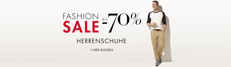 Fashion Sale bis -70% auf ausgewählte Herrenschuhe