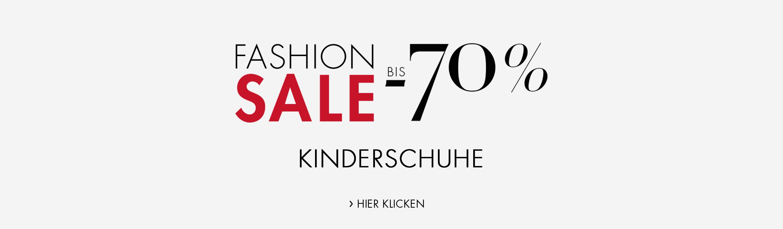 Fashion Sale bis -70% auf ausgewählte Kinderschuhe