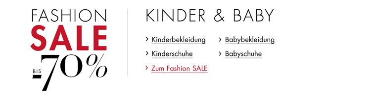 Fashion Sale Kinder und Baby