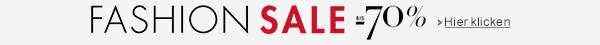 Fashion Sale bis -70% auf Bekleidung, Schuhe, Handtaschen und mehr