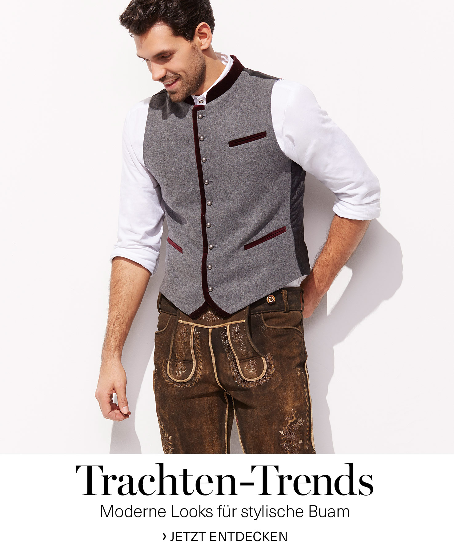 herren trachten bekleidung lederhosen trachtenhemden accessoires trachtenwesten und mehr. Black Bedroom Furniture Sets. Home Design Ideas