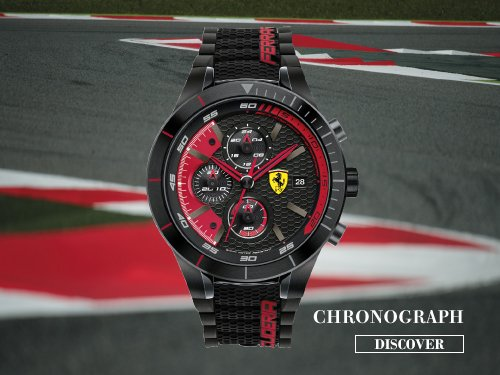 red black rev watches watch ferrari s silicone men scuderia