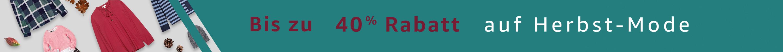 Bis zu 40% Rabatt auf Herbst-Mode