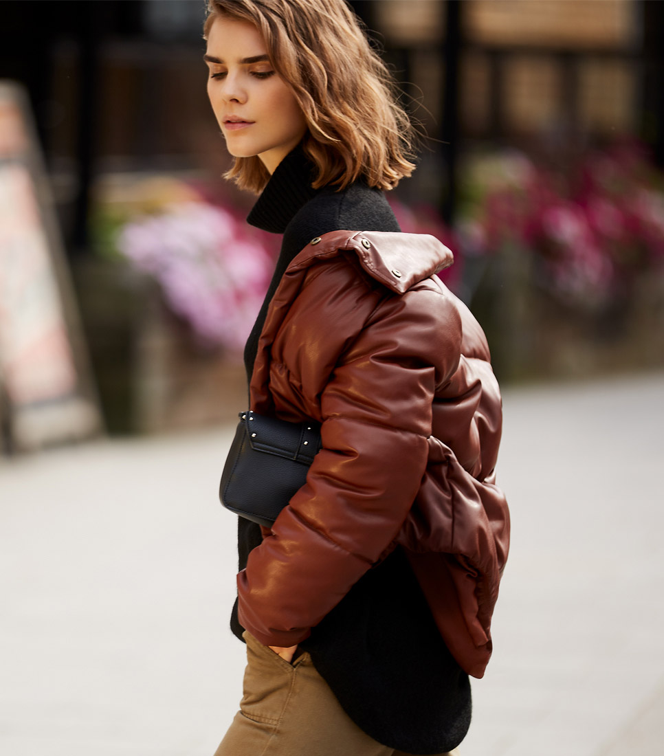 FIND Damen Jacke Pu Puffa Jacket