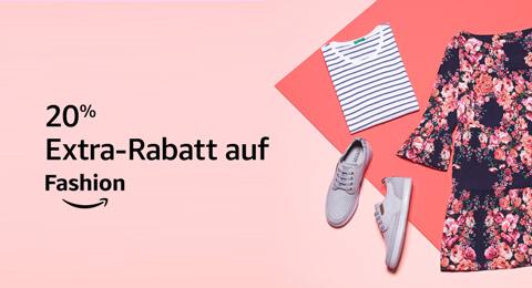 20% Extra-Rabatt auf ausgewählte Fashion-Artikel