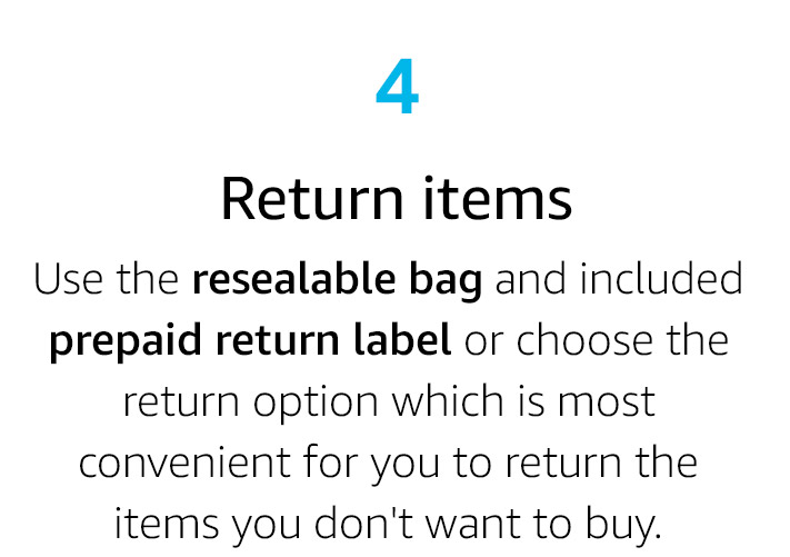Return items