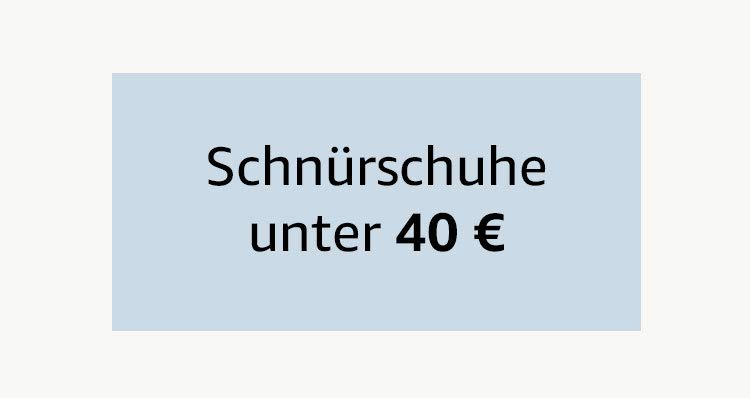 Schnürschuhe unter 40 €
