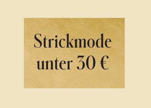 Strickmode unter 30 €