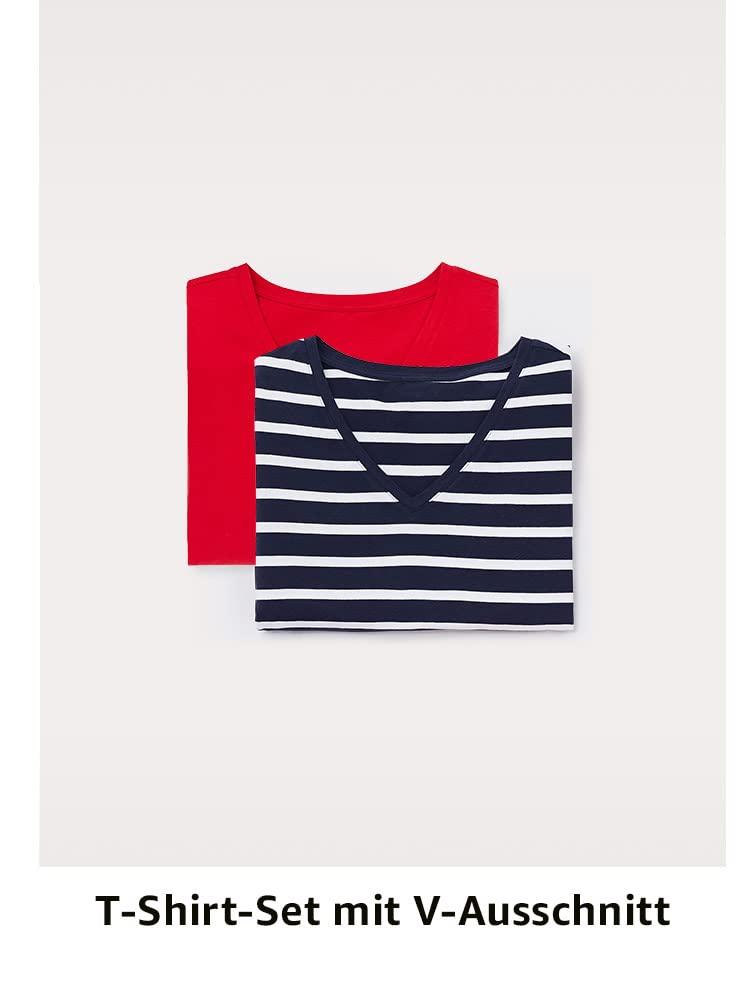 T-Shirt-Set mit  V-Ausschnitt