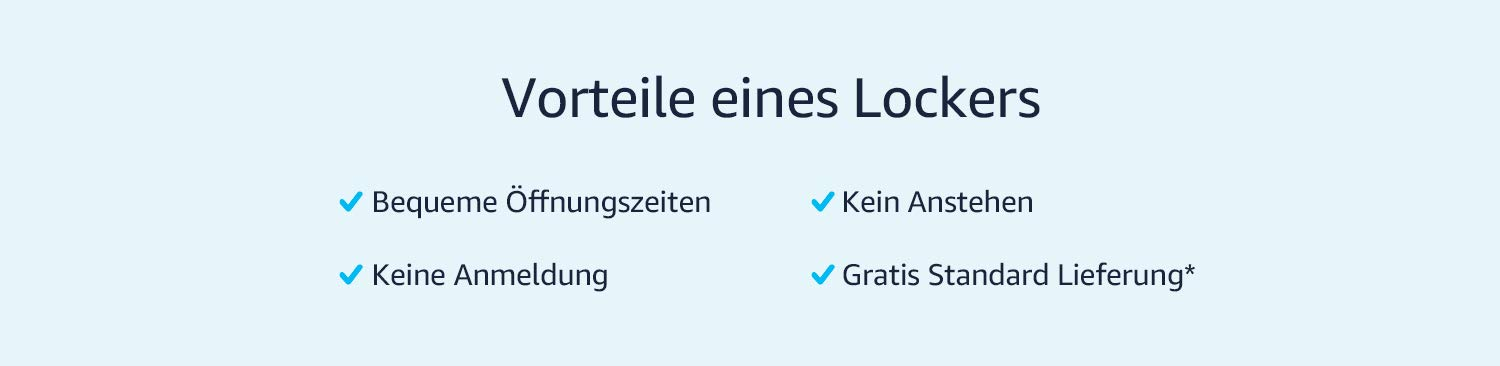 Vortiele eines Amazon Lockers