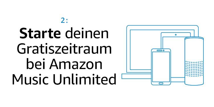 Starten Sie Ihren Gratiszeitraum bei Amazon Music Unlimited