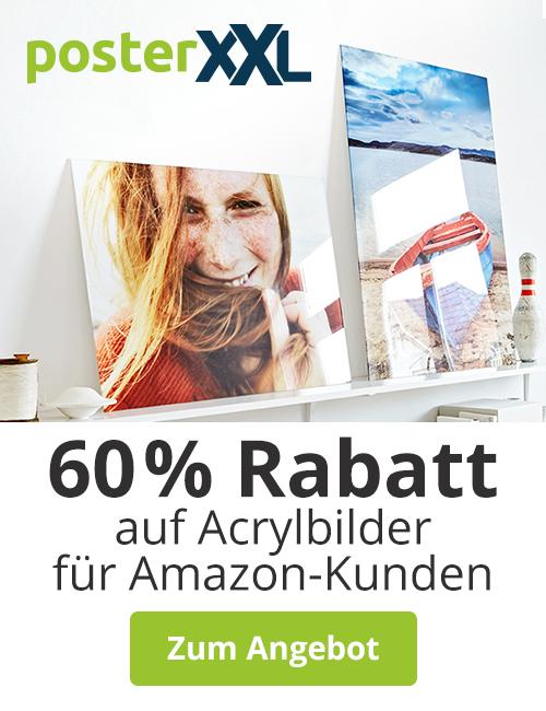 60 Prozent Rabatt auf Acrylglas Bilder bei posterXXL