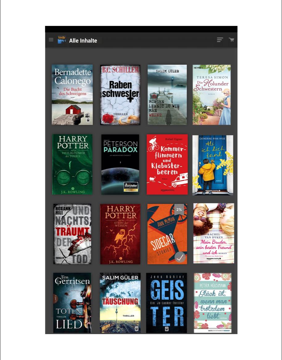 Kindle-App und eBook laden